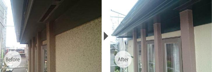 川崎市の外壁塗装のビフォーアフター