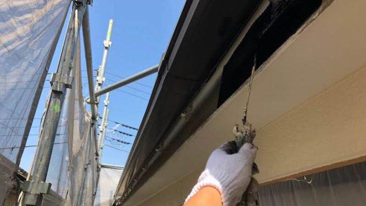 破風板の付帯部塗装