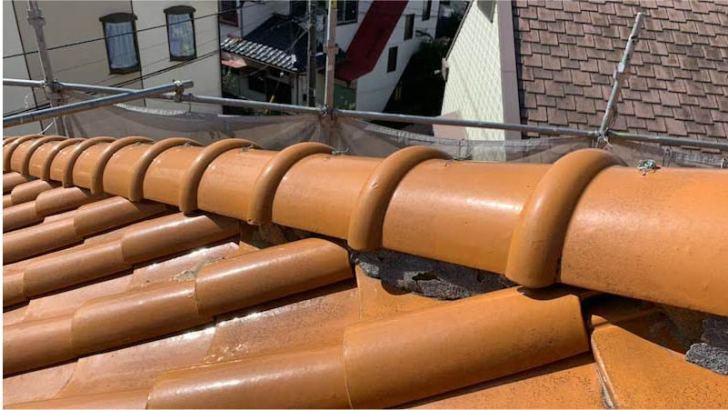 千葉市の棟の積み直し工事の施工前の様子