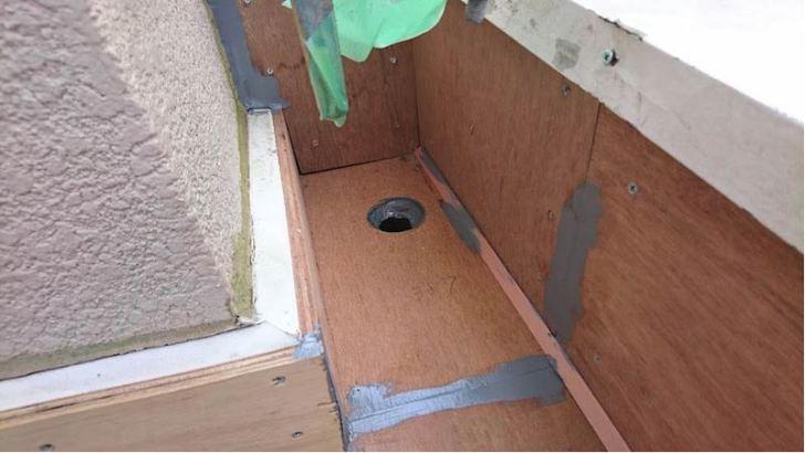 葛飾区の防水工事の下地処理