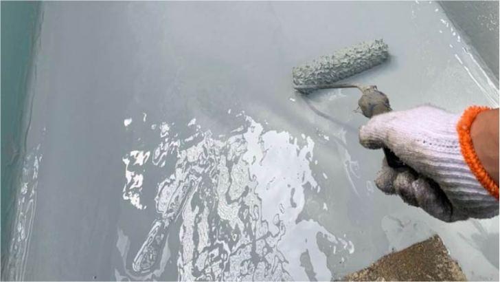 ベランダのウレタン防水(1回目)
