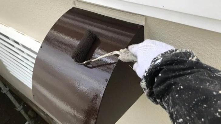排気口の塗装