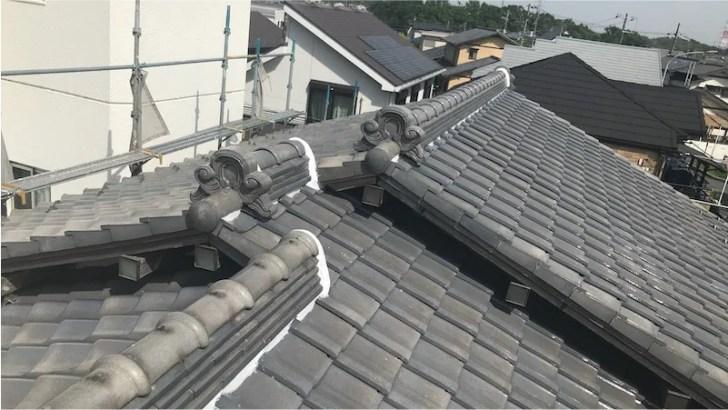 屋根の葺き直し工事の施工後の様子