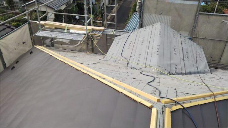 屋根材(ルーフィング)の施工