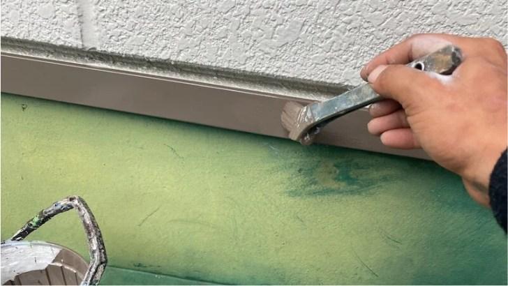 土台水切りの塗装
