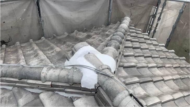 柏市の漆喰補修後の様子