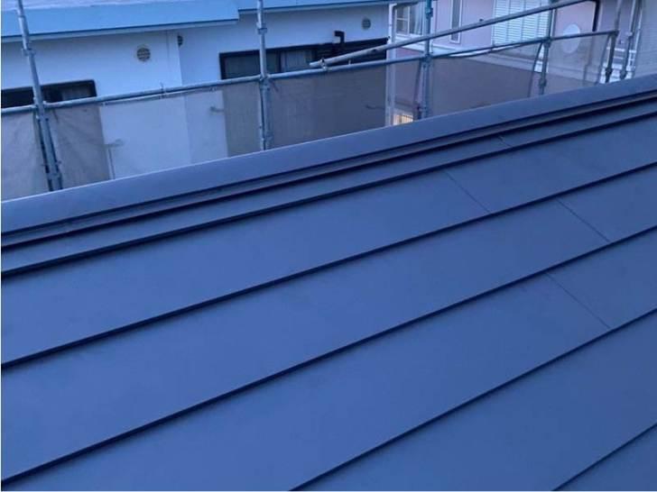 稲毛区の屋根葺き替え工事の施工後の様子