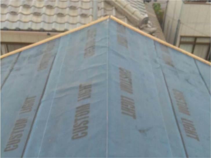 習志野市の屋根リフォームの役物の設置