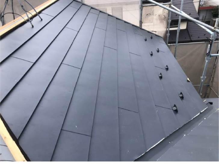 千葉市の屋根リフォームの屋根材の施工