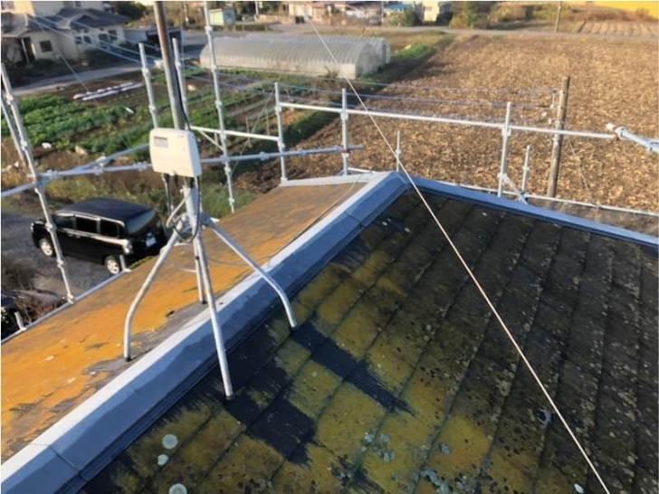 野田市の屋根修理の施工前の施工前の様子