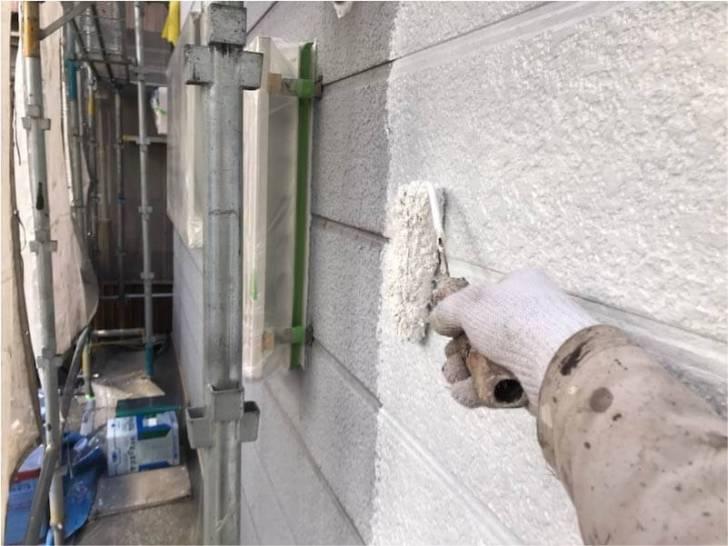 品川区の外壁塗装の下塗り