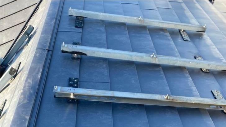 流山市の屋根リフォーム太陽光パネルの設置