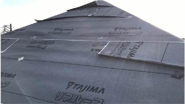 千葉市の屋根リフォームの防水シートの施工
