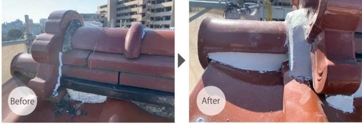 横浜市の屋根修理のビフォーアフター