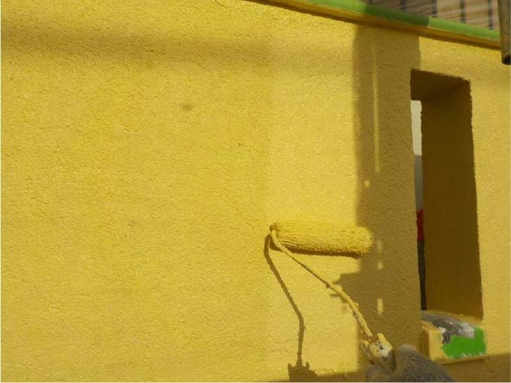 大田区の外壁塗装の上塗り