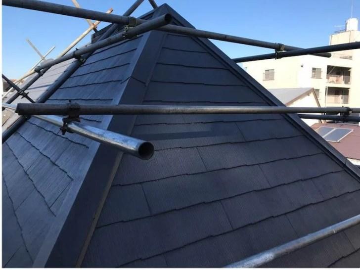 目黒区の屋根修理の施工前の様子