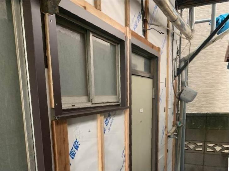 足立区の屋根葺き替え工事の胴縁の施工