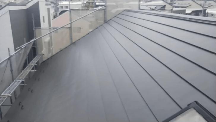 白井市の屋根リフォームの施工後の様子