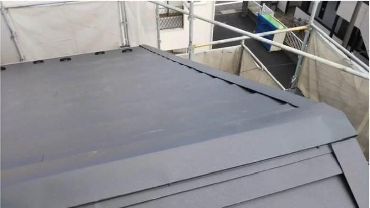鎌ヶ谷市の屋根葺き替え工事の施工後の様子