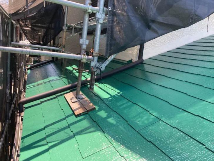 相模原市の屋根塗装の施工後の様子