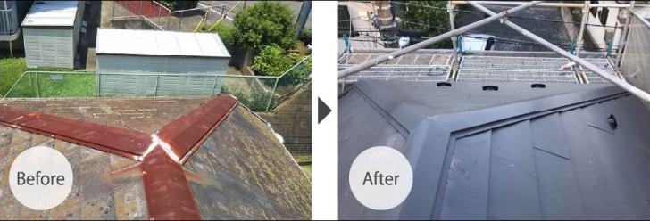船橋市の屋根リフォームのビフォーアフター