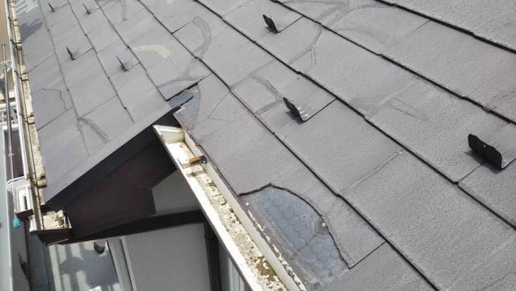 東村山市の屋根リフォームの施工前の様子