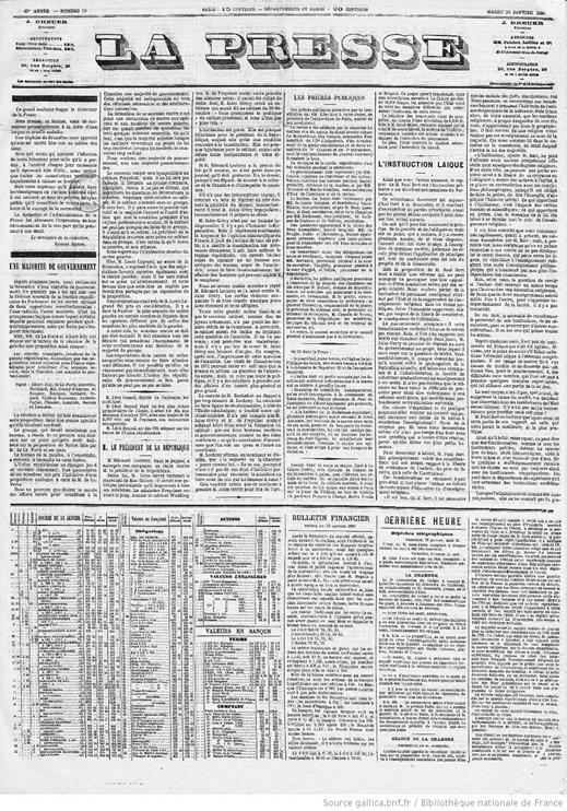 Publicidad y prensa: un modelo del siglo XIX