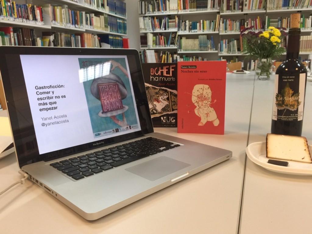«Cata literaria» en Fuerteventura por Yanet Acosta. Taller de «gastroficción»