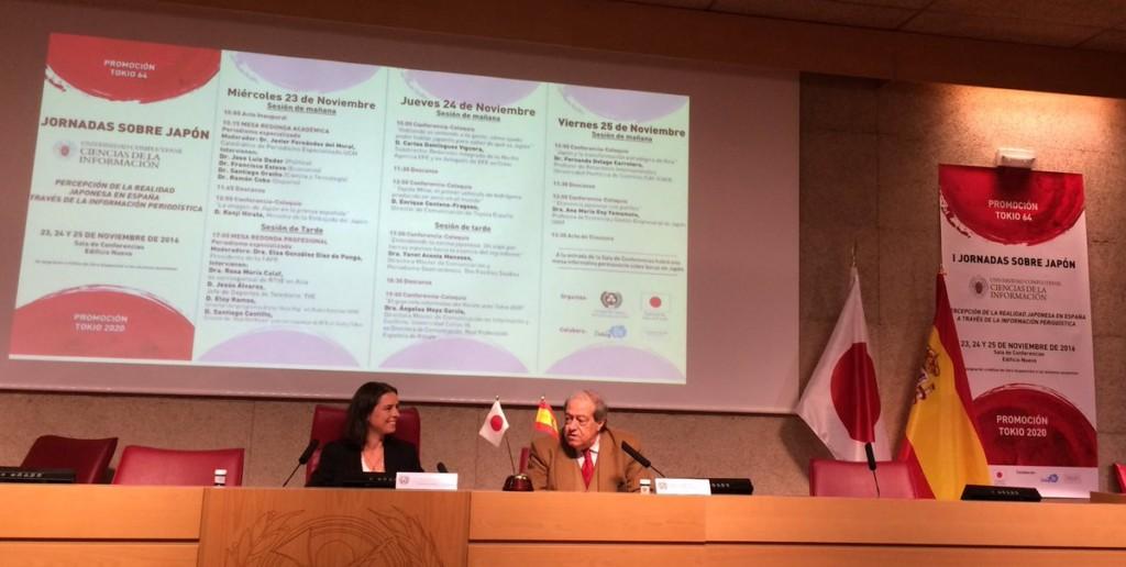 Durante la conferencia sobre el periodismo gastronómico en Japón en la UCM