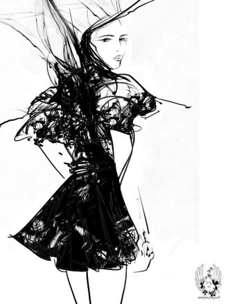Fashion illustration by Yan Fong