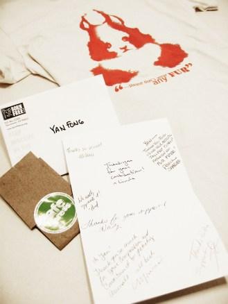 "YAN FONG Anti-Fur Design ""Don't Wear Fur Inkblot Animals"" X Born Free USA CaféPress Store"