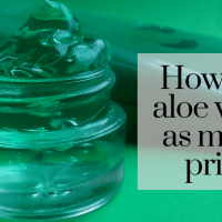 How to use Aloe Vera gel as makeup primer