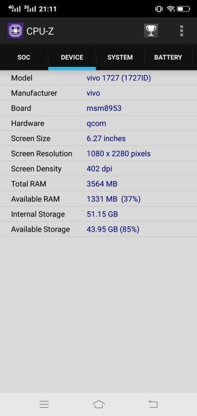Vivo V9 CPU Z (3)