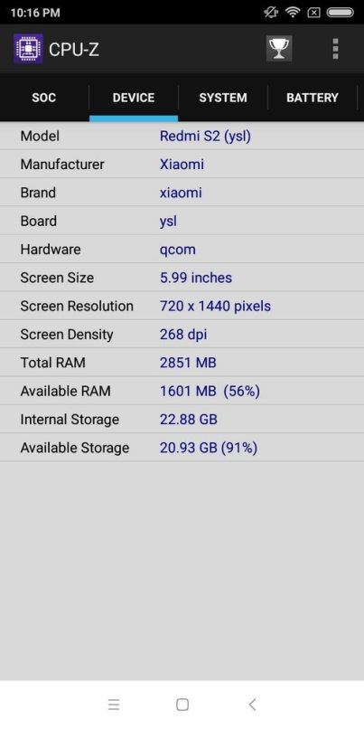 Redmi S2 CPU Z (2)