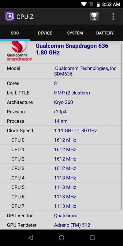 ZenFone Max Pro M1 6 GB CPU Z (1)