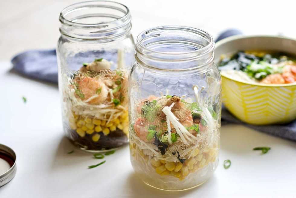 Make-ahead noodle jars are great for quick meals at home, and portable lunch.