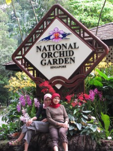 In the Gate of National Orchid Garden