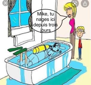 Image drôle de plongeur amateur