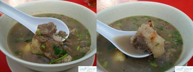 Mangkuk besar sup ekor Restoran Bikerz Station