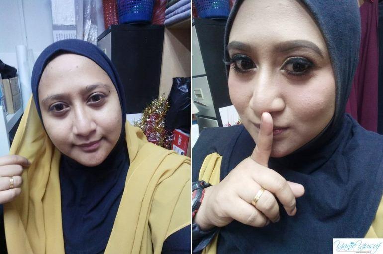 Wajah sebelum makeup