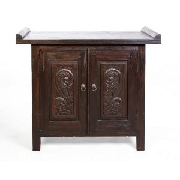 Old Java Teak Furniture - Indonesian Style Small Cabinet
