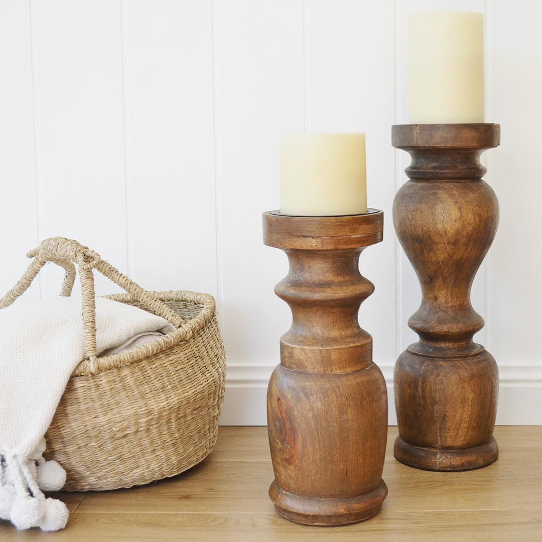 beautiful wooden candle holder from indonesia wholesale only