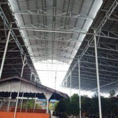 Baja Ringan Banjarmasin Cv Yani Steel Hasil Pemasangan Di Pasar Sudi Mampir