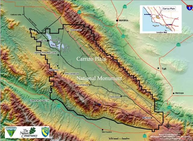 Wallace Creek Offset at the San Andreas Fault, Carrizo