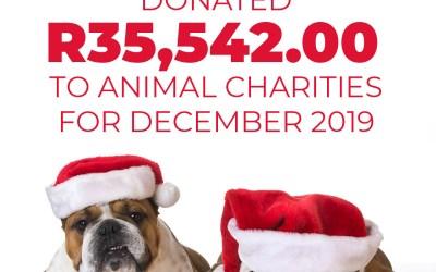 Donated R35,542.00 to Animal Charities