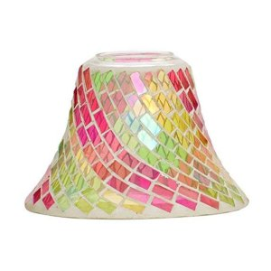 Yankee Candle Pink and Green Mosaic Shade