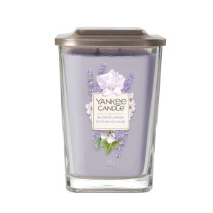 Elevation Sea Salt and Lavender Large Square Candle 1628651E