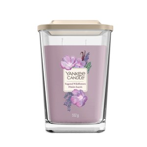 Elevation Sugared Wildflowers Large Square Candle 1611833E