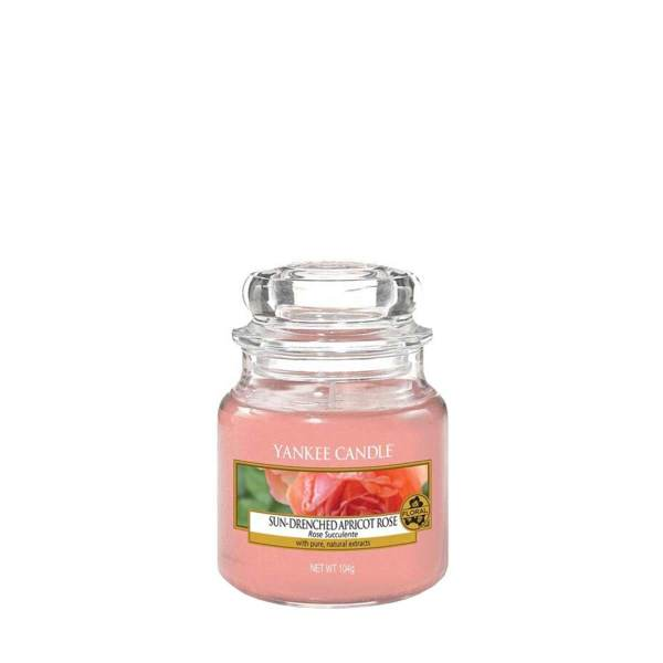 Sun Drenched Apricot Rose Small Jar