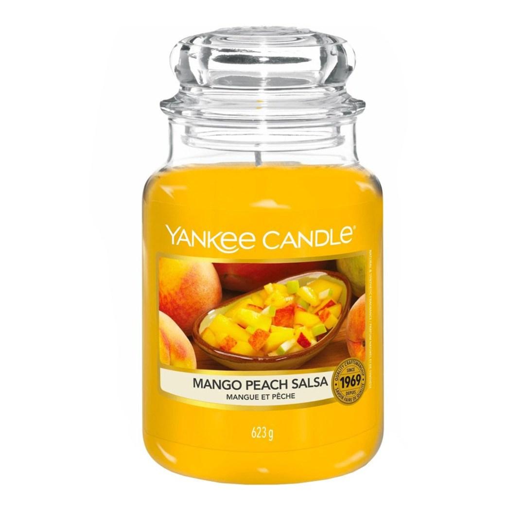Mango Peach Salsa Large Jar display 2